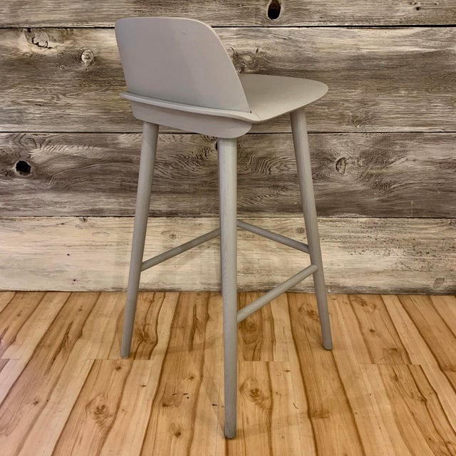 Modern David Geckeler Muuto Nerd Molded Plywood Barstool For Sale In Sacramento - Image 6 of 13