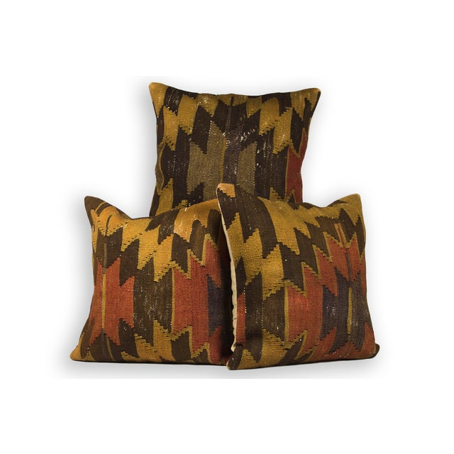 "20"" Square ""Earthy Aztec"" Colored Pillows - Set of 3 - Image 2 of 3"