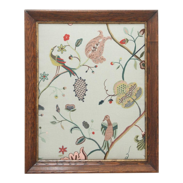 Margot Sky Embroidered Panel For Sale