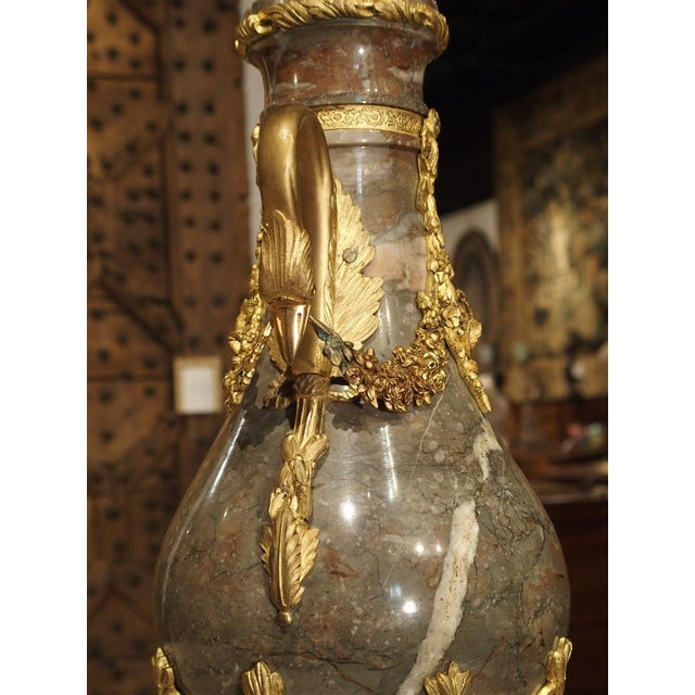 Pair of Circa 1860 Gilt Bronze and Marble Cassolettes from France For Sale In Dallas - Image 6 of 11