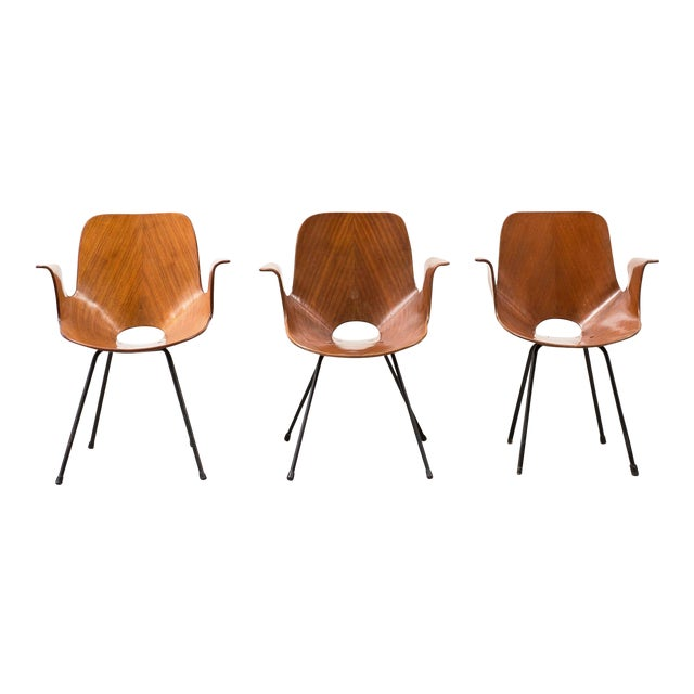Set of Three Medea Armchairs by Vittorio Nobili, Italy, 1950s For Sale