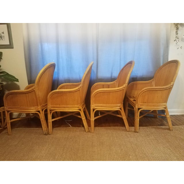 Gabriella Crespi Palm Beach Pencil Reed Rattan Dining Chairs - Set of 4 For Sale - Image 4 of 10