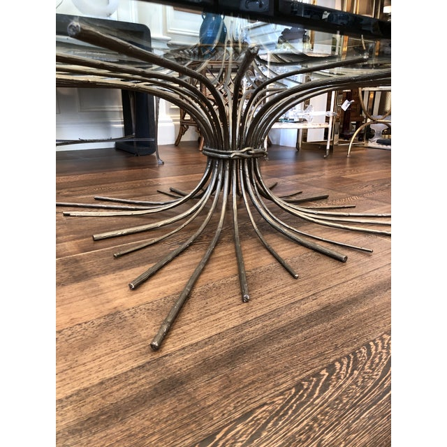 Hollywood Regency Gilt Iron Faux Bois Root Cocktail Table For Sale - Image 3 of 7