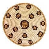 Image of Indego Africa Handwoven Leopard Plateau Basket For Sale