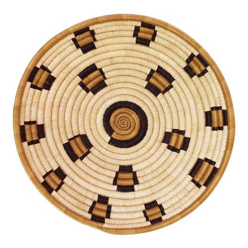 Indego Africa Handwoven Leopard Plateau Basket For Sale