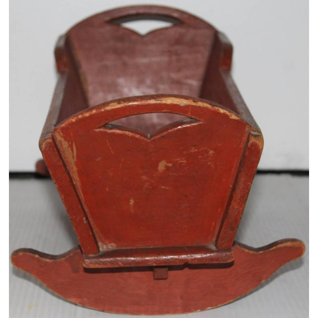 Pine 19th Century Rare Lancaster County Doll Cradle For Sale - Image 7 of 8