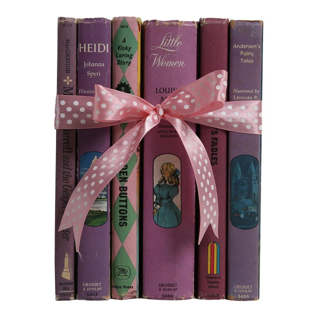 "Midcentury Book Gift Set: ""Lilac"" Stories For Girls - Set of 6 - Image 1 of 5"
