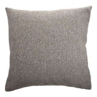 Firmamenta Italian Contemporary Silver and Brown Herringbone Pillow For Sale