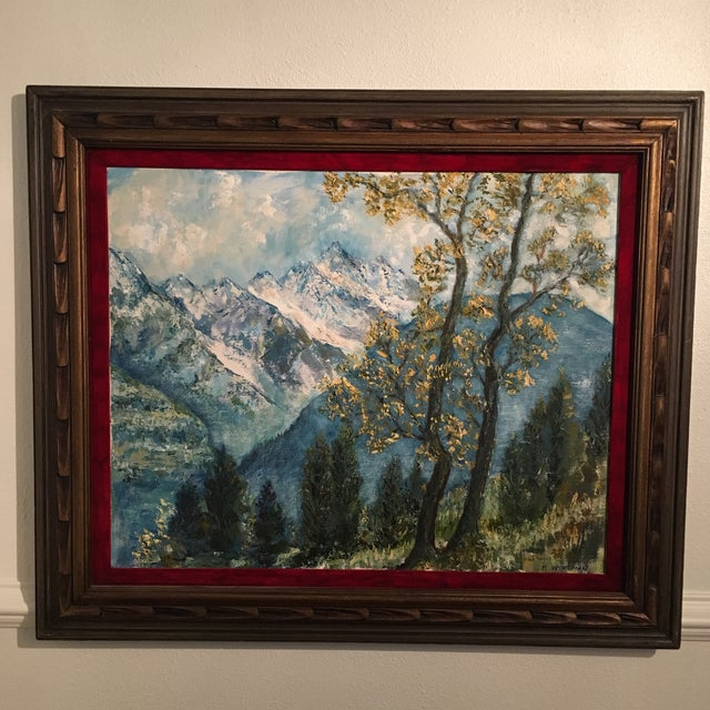 Impressionism R. Woolman Mountain Landscape Oil Painting For Sale - Image 3 of 10