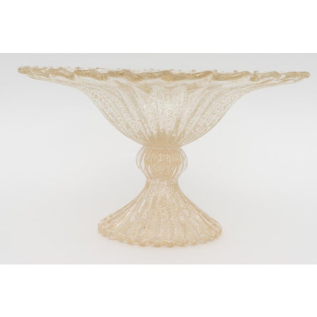This stylish Murano glass compote was acquired from a Palm Beach estate and is inspired by pieces created by Barovier et...