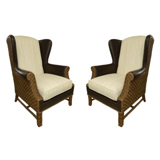 Transitional Henry Link Trading Co. Sanctuary Wing Chairs - a Pair