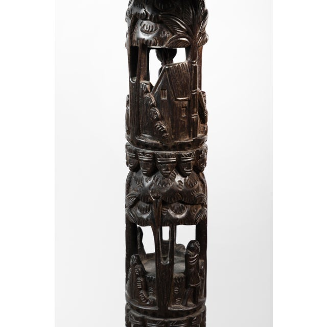 African French African Floor Lamp For Sale - Image 3 of 10