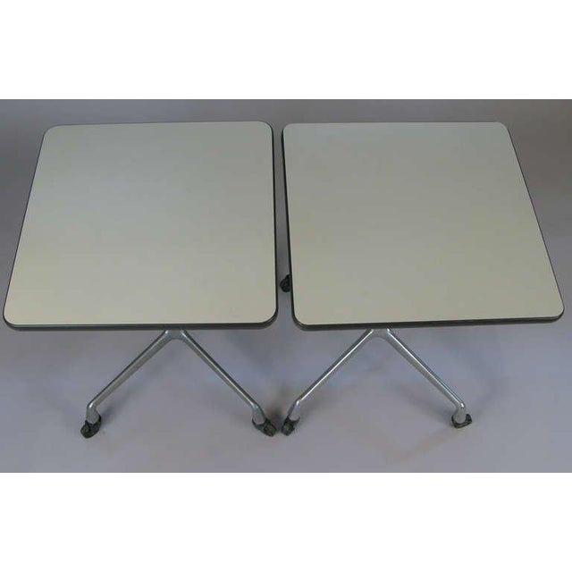 Industrial Eames for Herman Miller Aluminum Group Tables - a Pair For Sale - Image 3 of 8