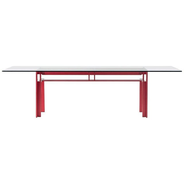 Carlo Scarpa Red Anodized Architectural 'Doge' Dining Table for Cassina Simon For Sale - Image 10 of 10