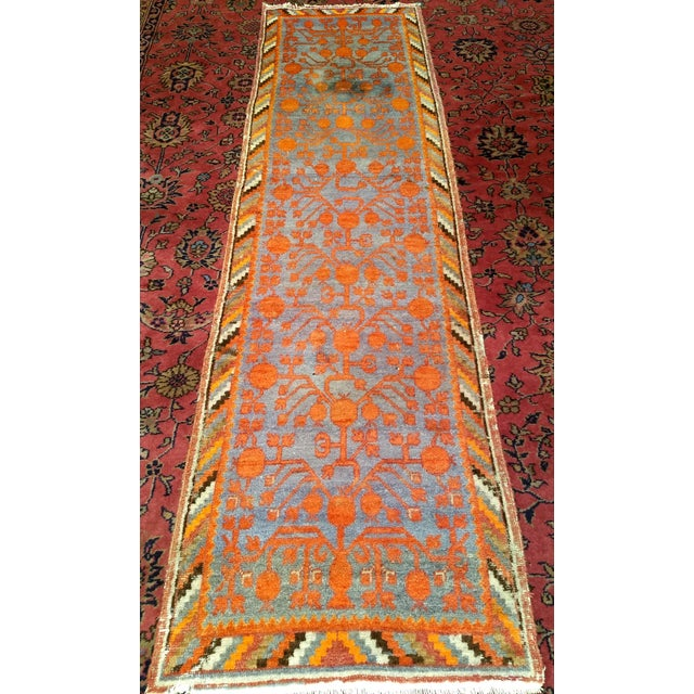 The Khotan rugs from the Eastern Turkestan in Central Asia have developed a following a devotion because of their rarity...