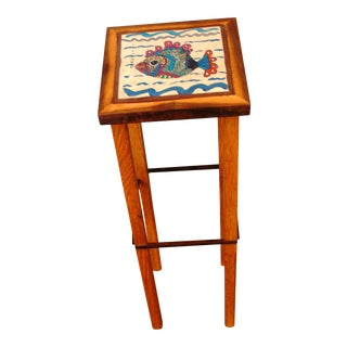 Hand Made Drinks Table Seashore Decorative Fish Tile Table For Sale