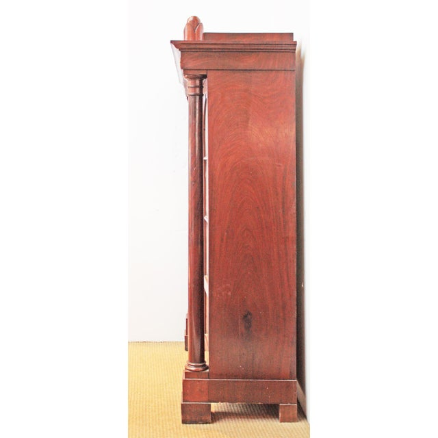 19th Century Biedermeier Bibliotheque of Figured Mahogany For Sale - Image 5 of 10