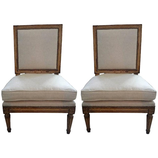 19th Century French Louis XVI Style Children's Chairs-A Pair For Sale