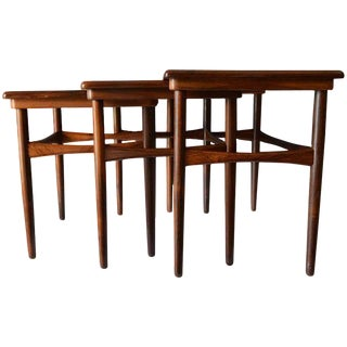 1960s Poul Hundevad Rosewood Nesting Tables - Set of 3 For Sale