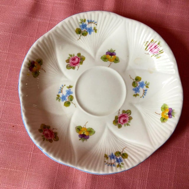 Ceramic 1990s Shelley Rose Pansy Forget Me Not Demitasse Coffee Service - Set of 5 For Sale - Image 7 of 9