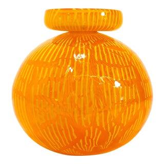 Nancy Callan, 2001, Orange Studio Art Glass Vase Sculpture For Sale