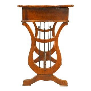 Austrian Biedermeier Mahogany End Table With a Drawer For Sale