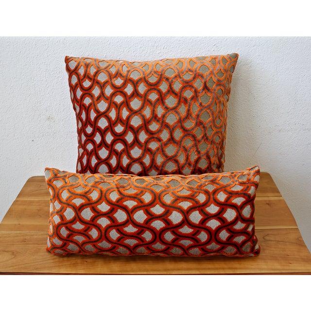 Large Orange Cowtan Tout Astrid Pillow - Image 4 of 4