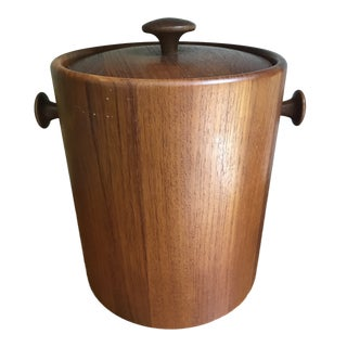 Mid Century Teak Ice Bucket For Sale