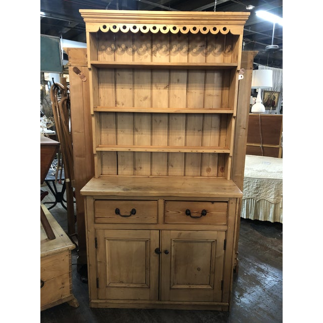 Antique Pine Welsh Display Cabinet For Sale - Image 12 of 12