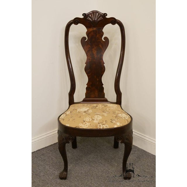 Queen Anne Stickley Queen Anne Splatback Mahogany Dining Side Chair For Sale - Image 3 of 13
