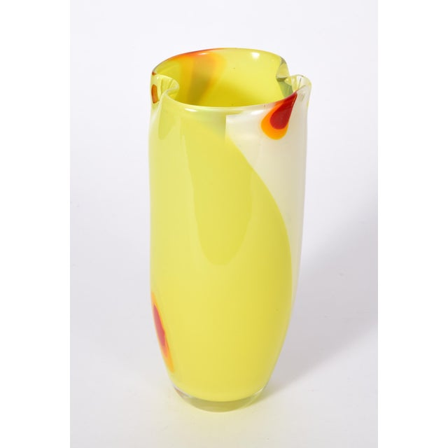 Art Deco Mid-Century Modern Murano Glass Vase For Sale - Image 3 of 7