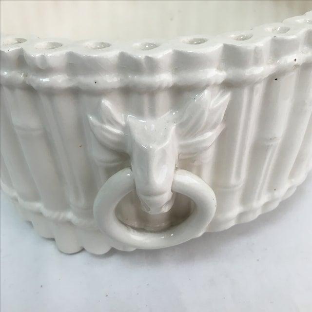 Italian Ceramic Faux Bamboo Planter - Image 5 of 7