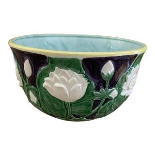 Vintage 1980s Majolica Porcelain Bowl by the Haldon Group For Sale