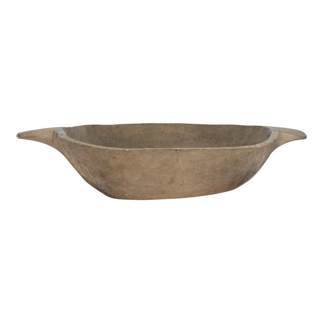 Antique Carved Dough Bowl - Image 1 of 6