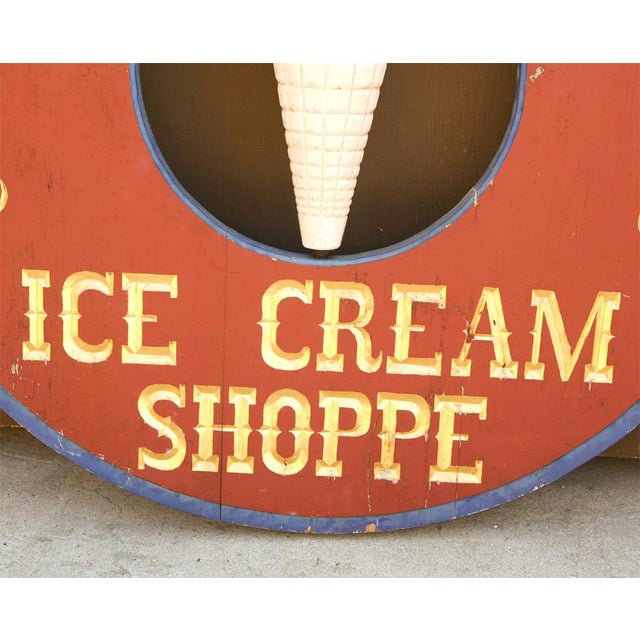 """Early 20th Century Very Large """"Maloof's"""" Ice Cream Shop Sign For Sale - Image 5 of 7"""