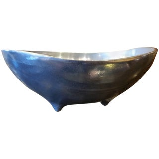 Biomorphic Aluminum Footed Bowl For Sale