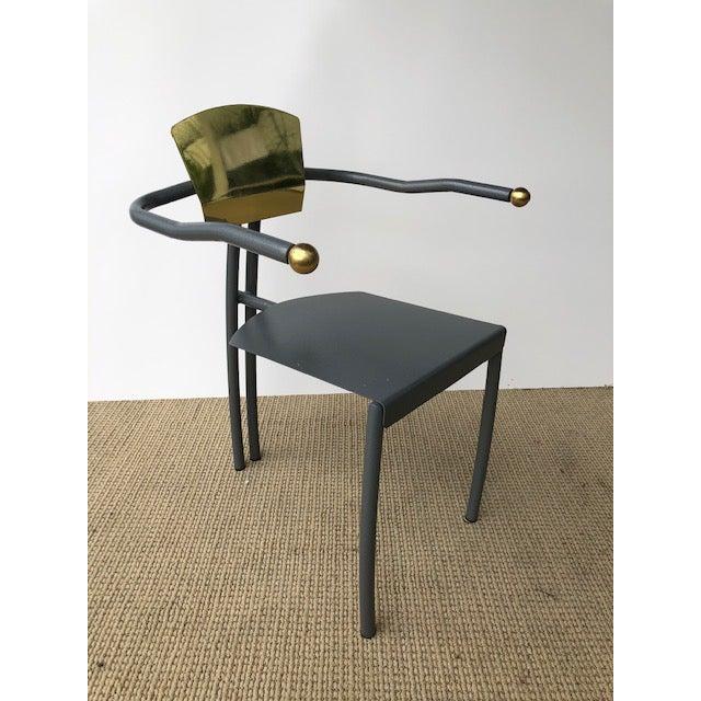 1980s 1980s Vintage Sculptural Memphis Style Arm Chair For Sale - Image 5 of 9