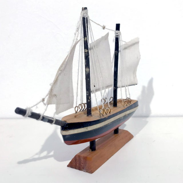 Nautical Wooden Model Sailing Ship - Image 3 of 11