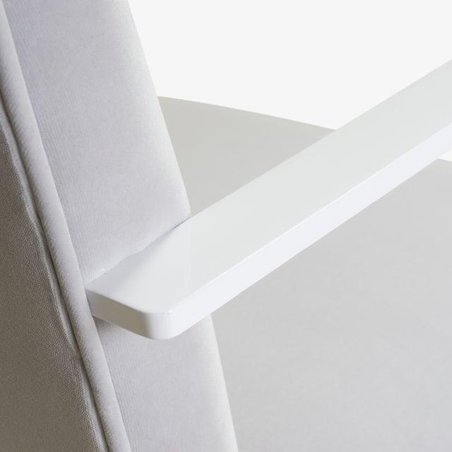 Metal Brno Flat-Bar Chairs in Dove Velvet, Lunar Gloss Frame For Sale - Image 7 of 10