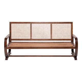 Chinese Cane Three Seat Sofa For Sale