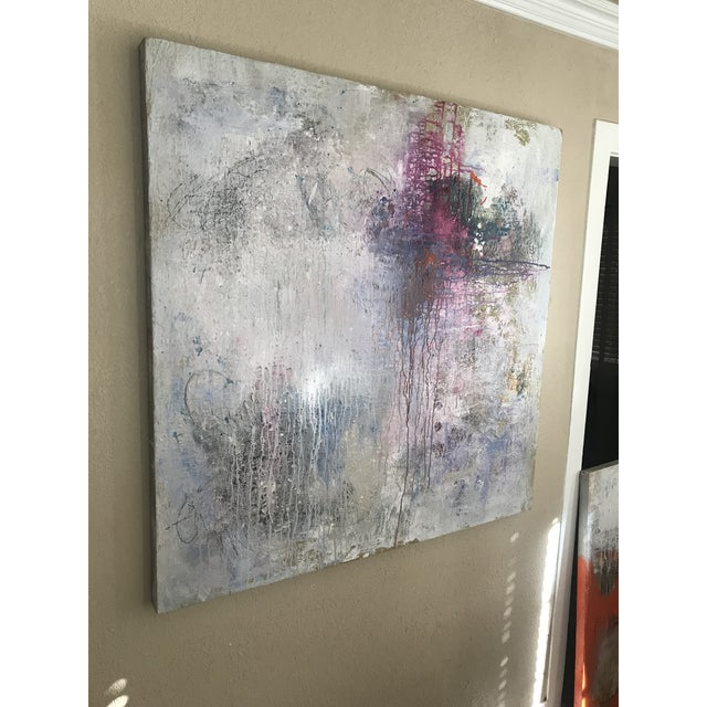 "Mixed media on gallery-wrapped canvas with 2.5"" painted sides."