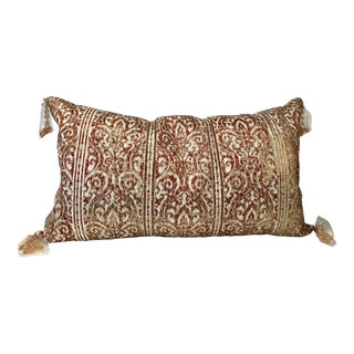 Callisto Home Embroidered & Beaded Orange Pillow