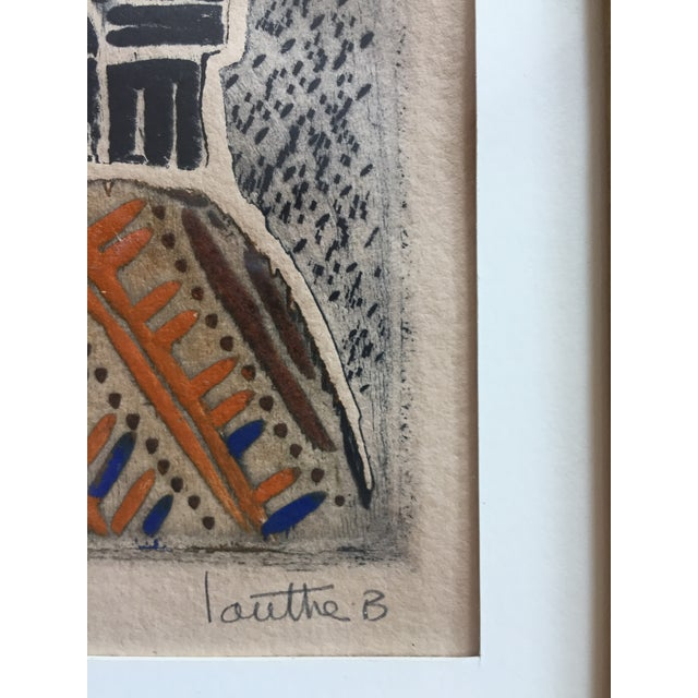 Vintage Original Lithograph Abstract by Jean Lauthe For Sale - Image 5 of 7