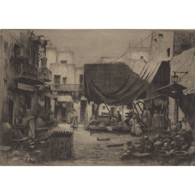 1930's Etching by Walter Chandler For Sale
