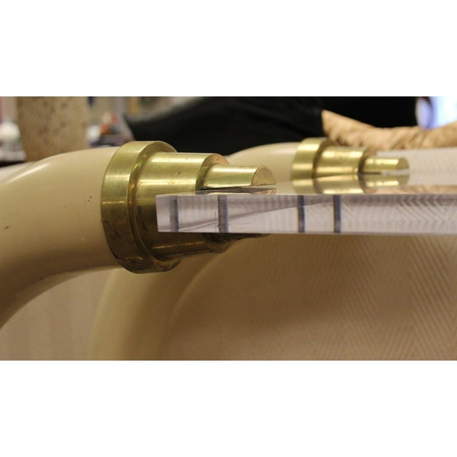 Suzanne Dahl and Jerry Bar Mid Century Modern Lucite Tusk Console Table For Sale In Detroit - Image 6 of 9