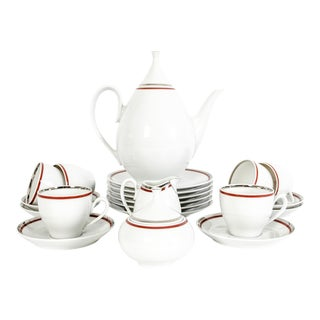 Art Deco German Porcelain Luncheon Set For Sale