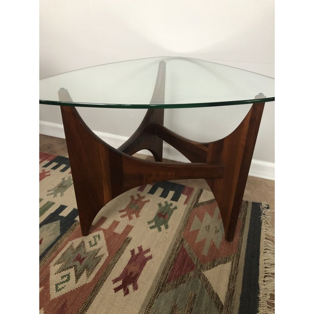 Adrian Pearsall for Craft Associates Tripod Glass Top Side Table For Sale In Milwaukee - Image 6 of 8