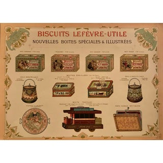 1898 Biscuits Lu Style Sheet, Rare For Sale