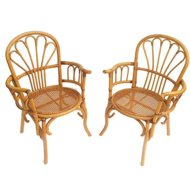 1980s Vintage Bent Bamboo Arm Chairs - a Pair For Sale - Image 9 of 13