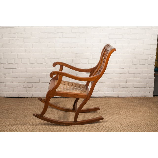 Teak Rocking Chair from 19th C. India - Image 3 of 6